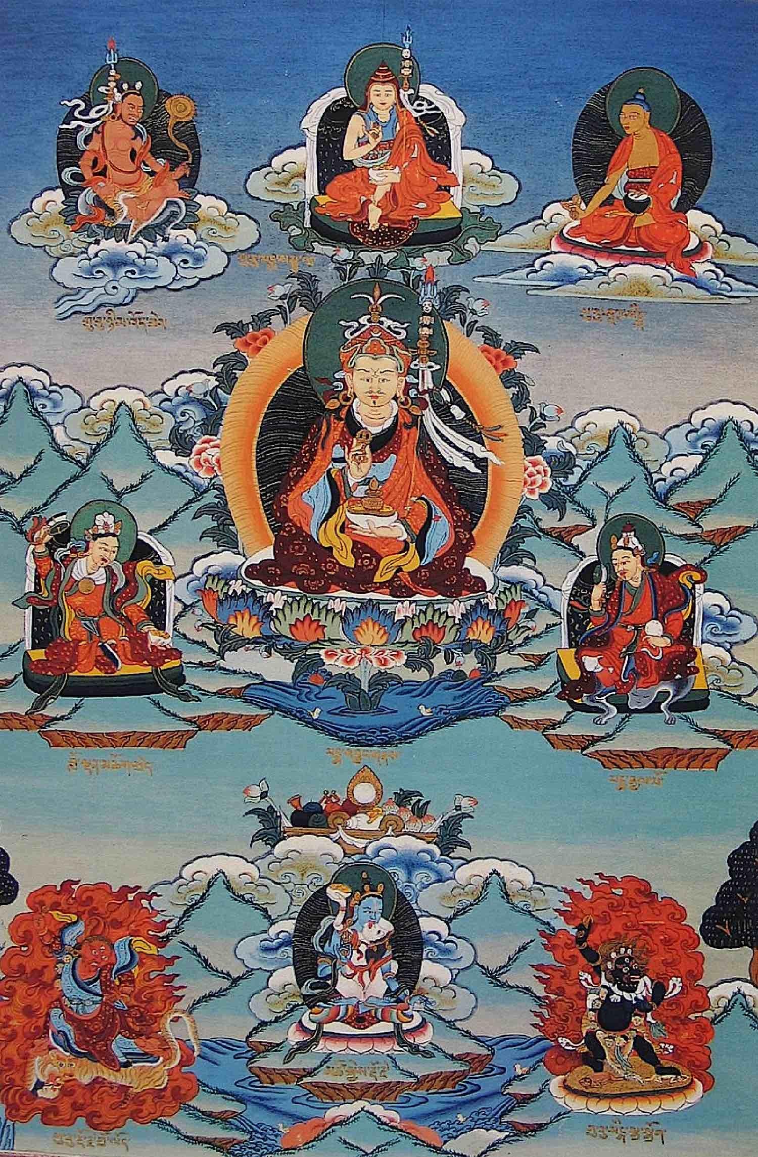Buddha Weekly Eight main manifestations of Guru Rinpoche Padmasambhava Himilayan Art Buddhism