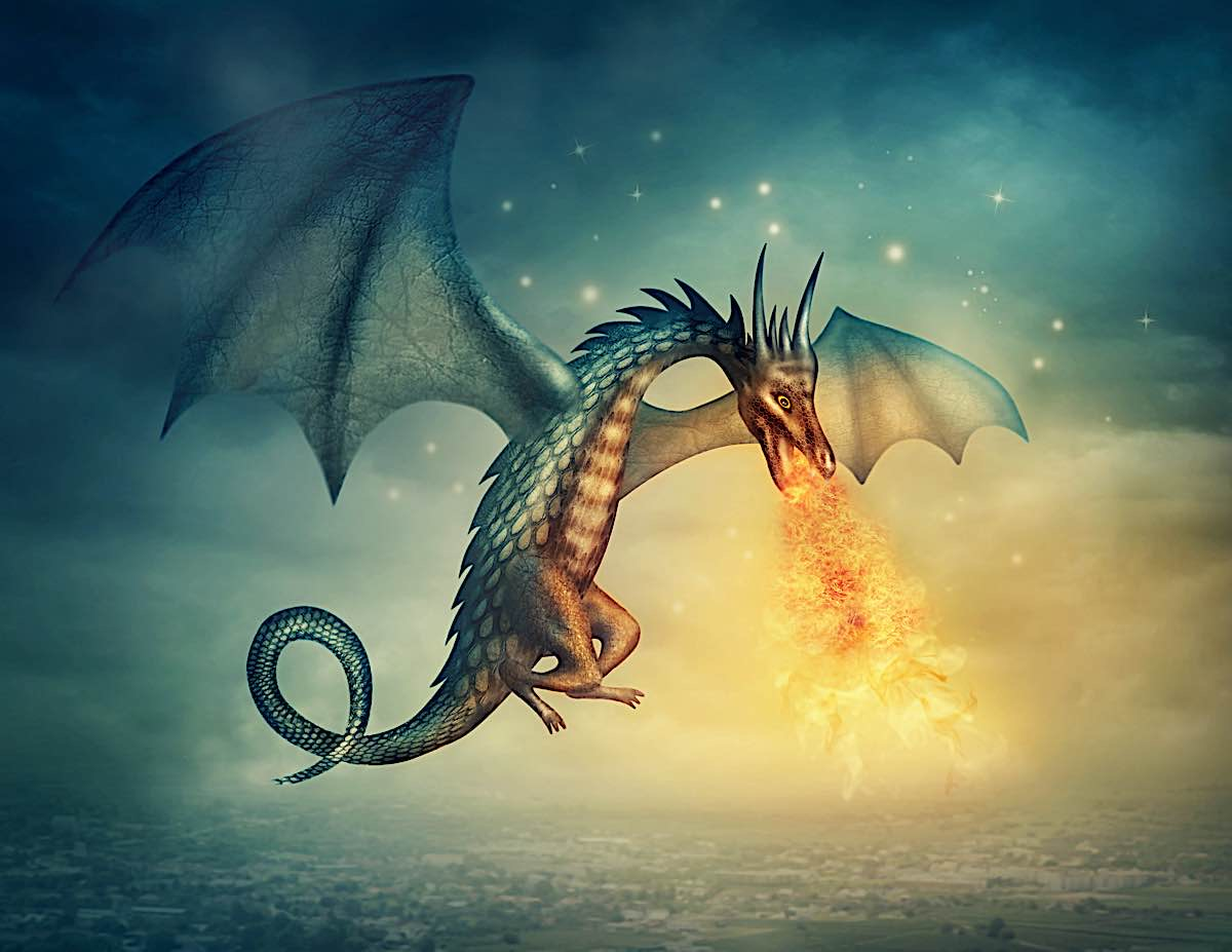 Buddha Weekly Elena Schweitzer Dragon illustration dreamstime xxl 27002223 Buddhism