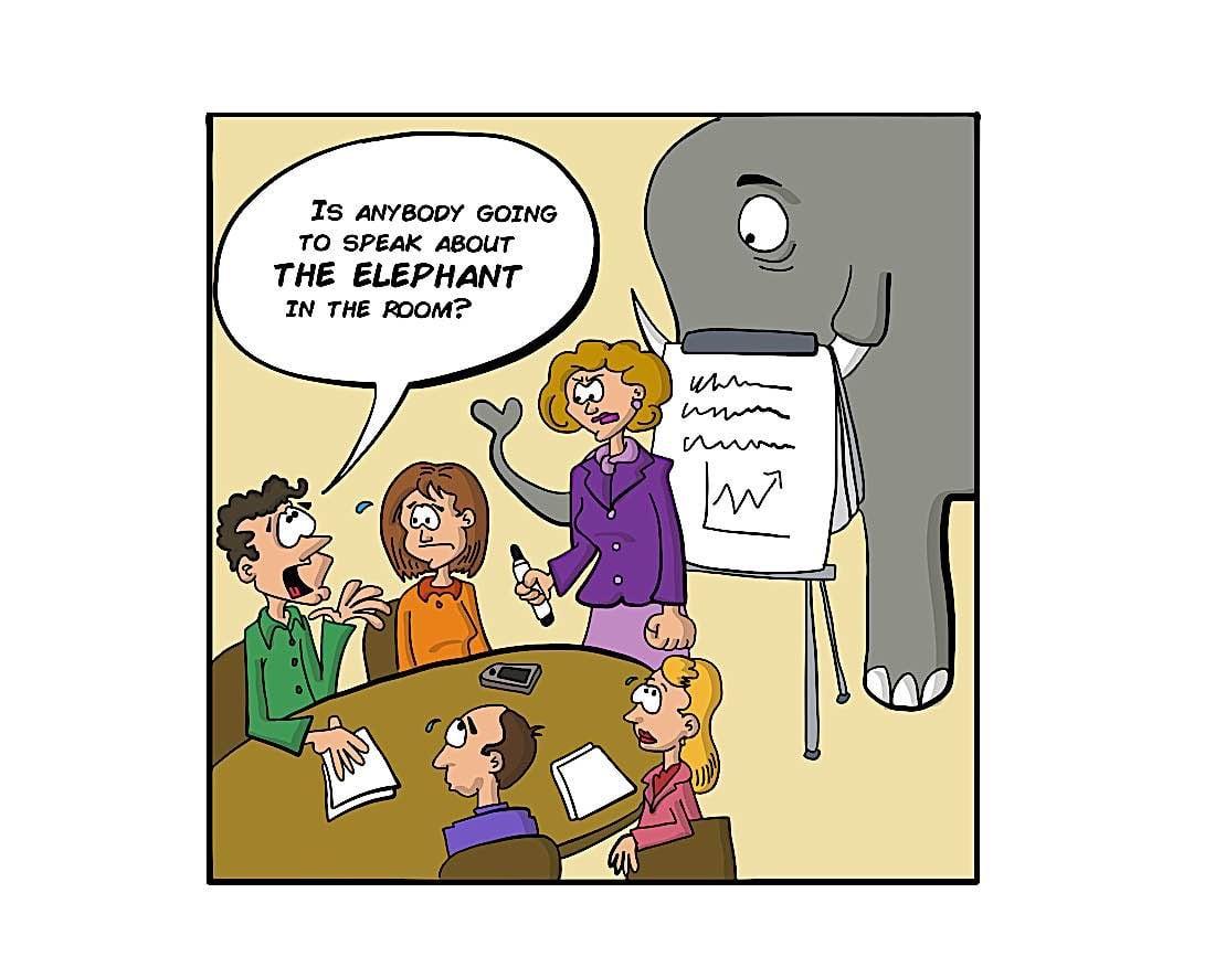 Buddha Weekly Elephant in the Room metaphor Buddhism