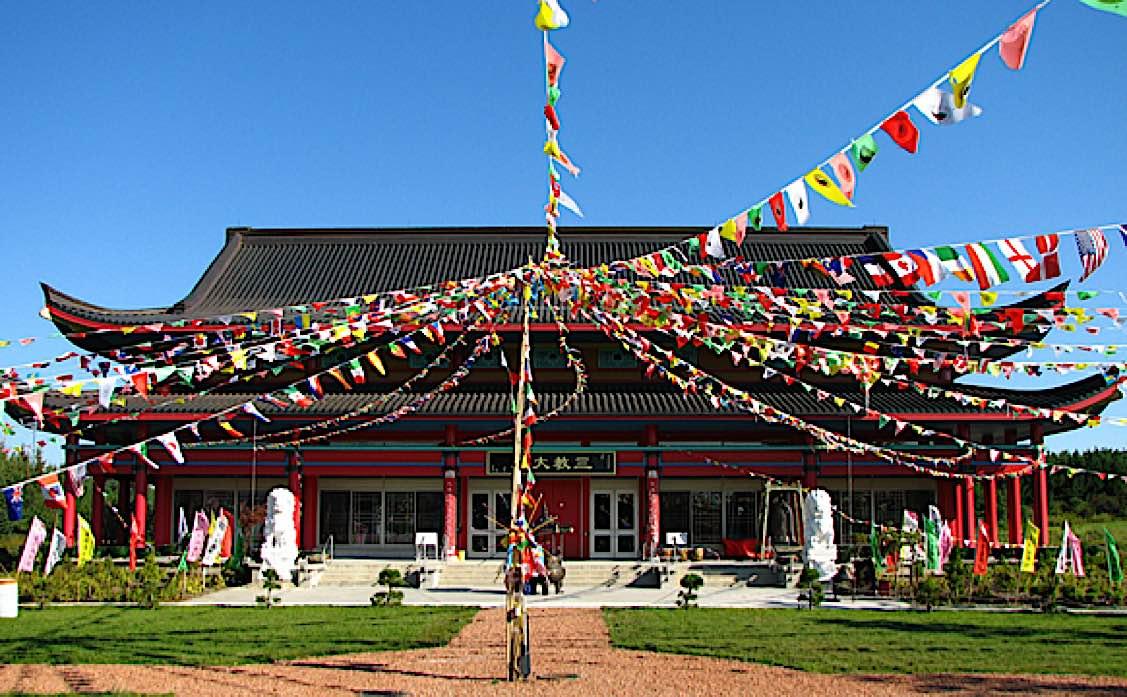 Buddha Weekly Exterior of temple for Fung Loy Kok Taoist Tai Chi International Centre near Orangevill Ontario Buddhism