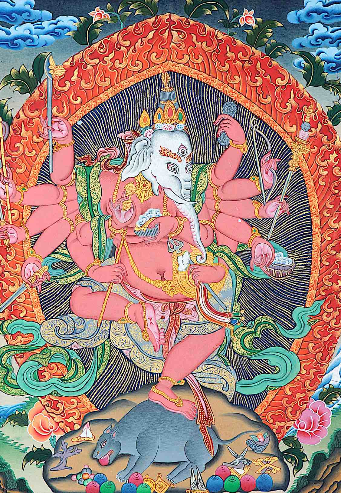 Buddha Weekly Fierce many armed Ganesha Tibetan Buddhism
