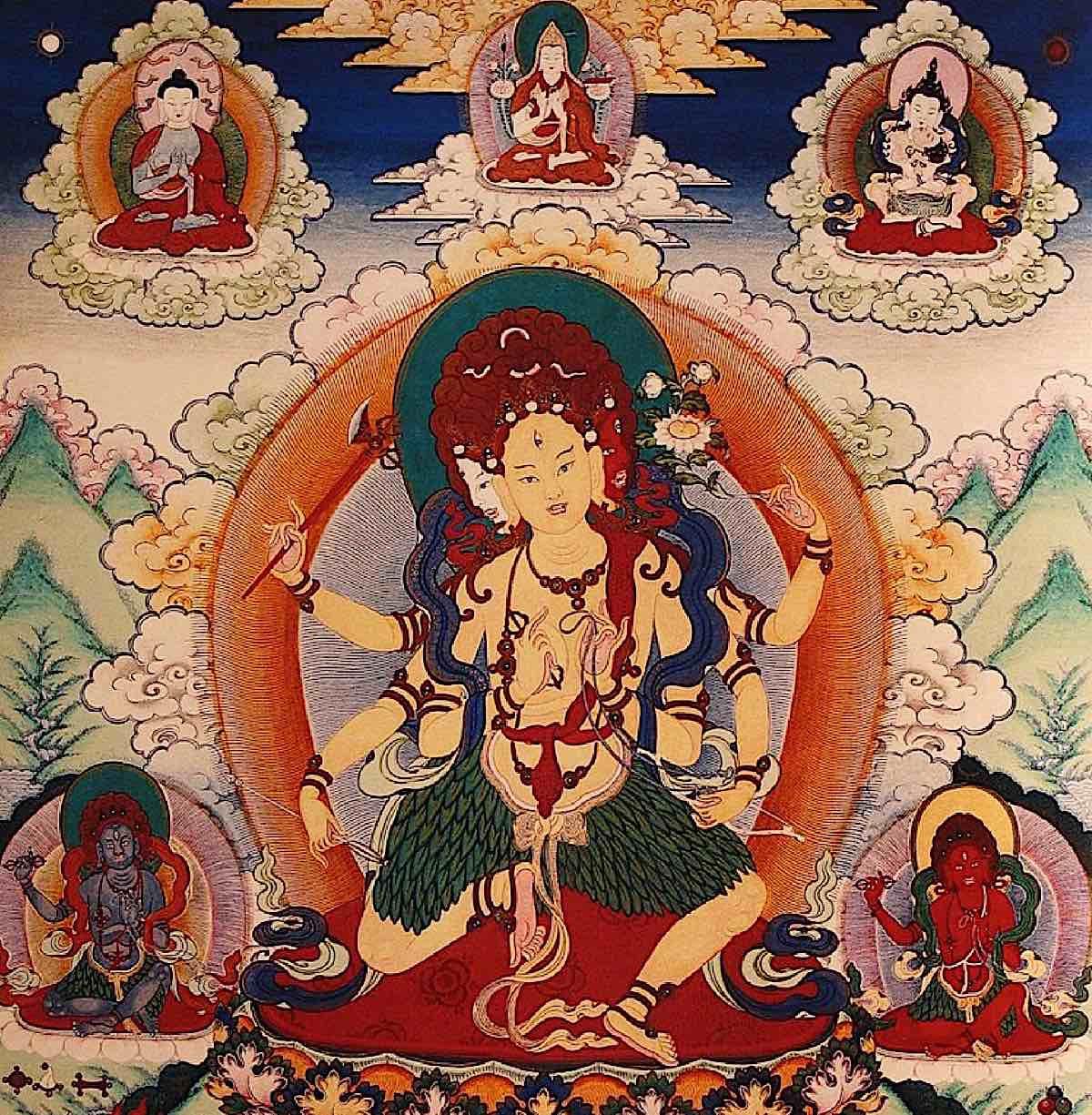 Buddha Weekly From Himilayan Art Parnashavari with Lama Tsongkhapa Buddhism