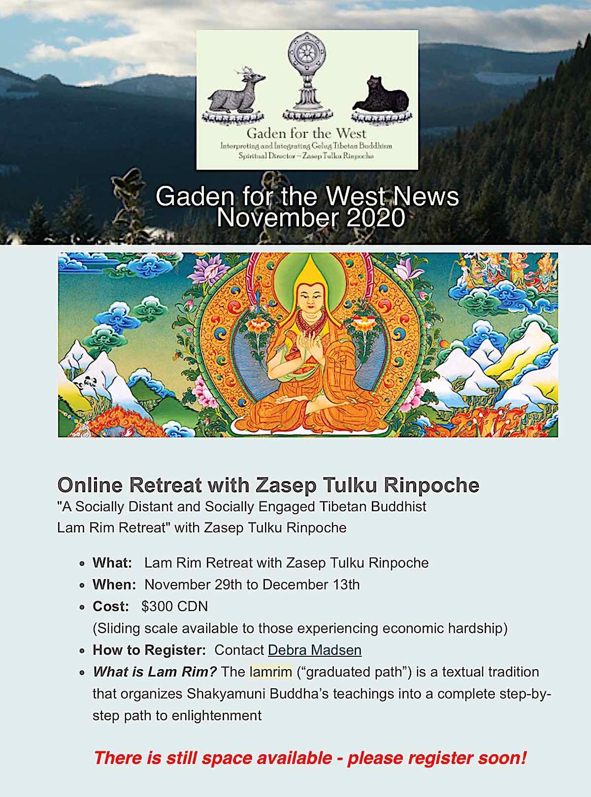 Buddha Weekly Gaden fro the West Lamrim Retreat Buddhism