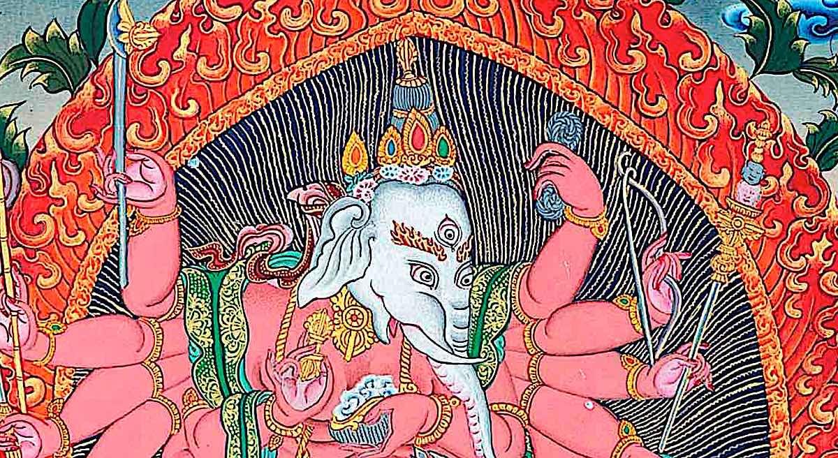 Buddha Weekly Ganesh with 12 arms Buddhism