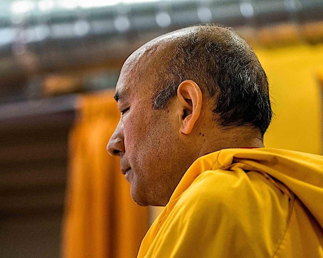 Buddha Weekly Geshe Sherab meditating Buddhism