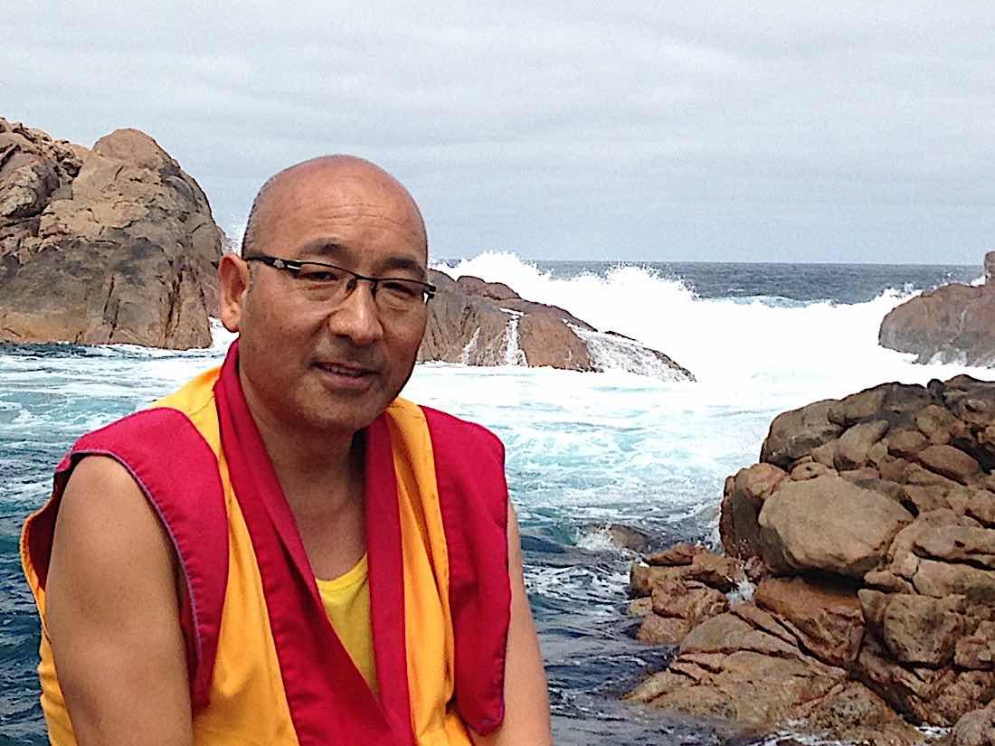 Buddha Weekly Geshe Sherab on ocean Buddhism