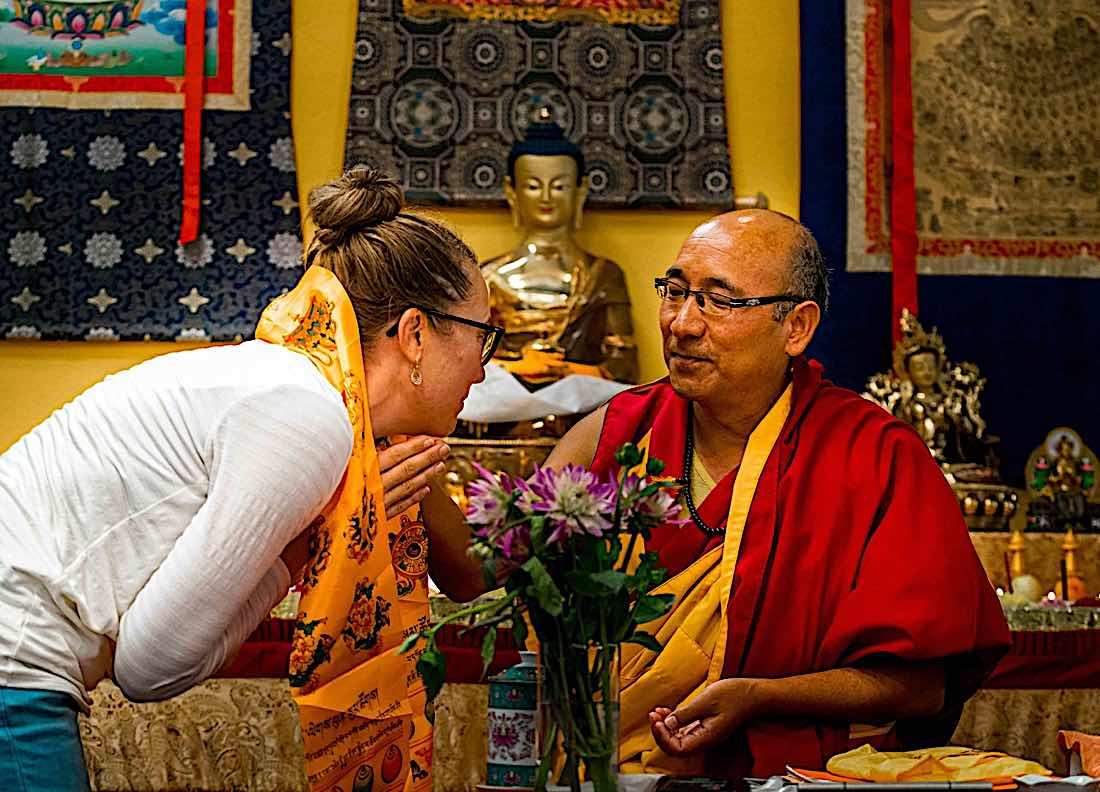 Buddha Weekly Geshe sherab and student Buddhism