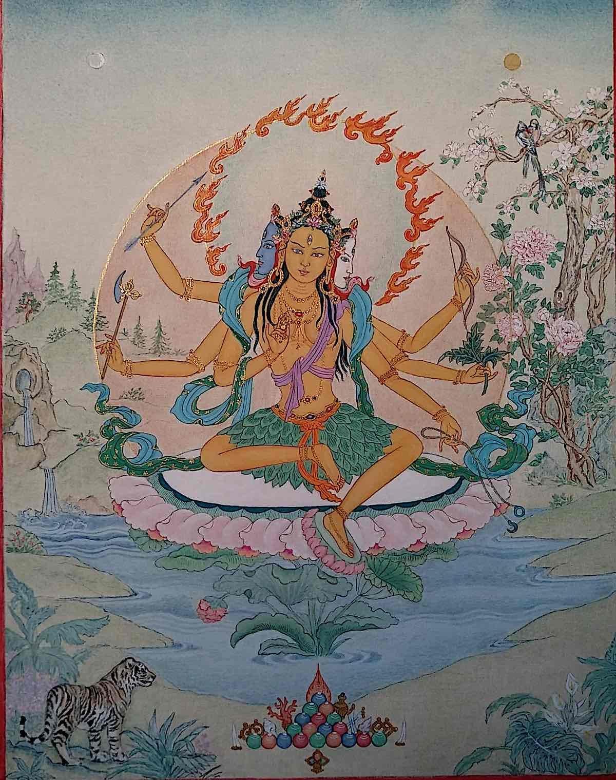 Buddha Weekly Glorious goddess Parnashavari by Angeli Lhadripa Shkonda Buddhism