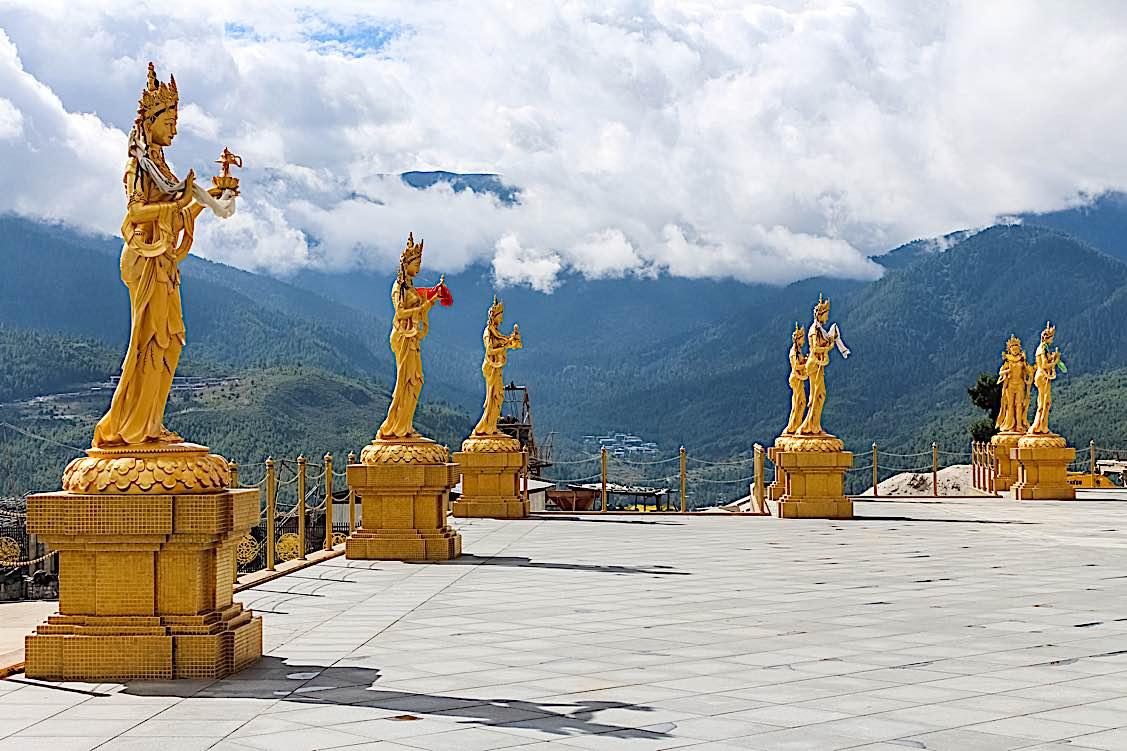 Buddha Weekly Golden Buddhist Goddesses Thimphu Buhtan Buddhism