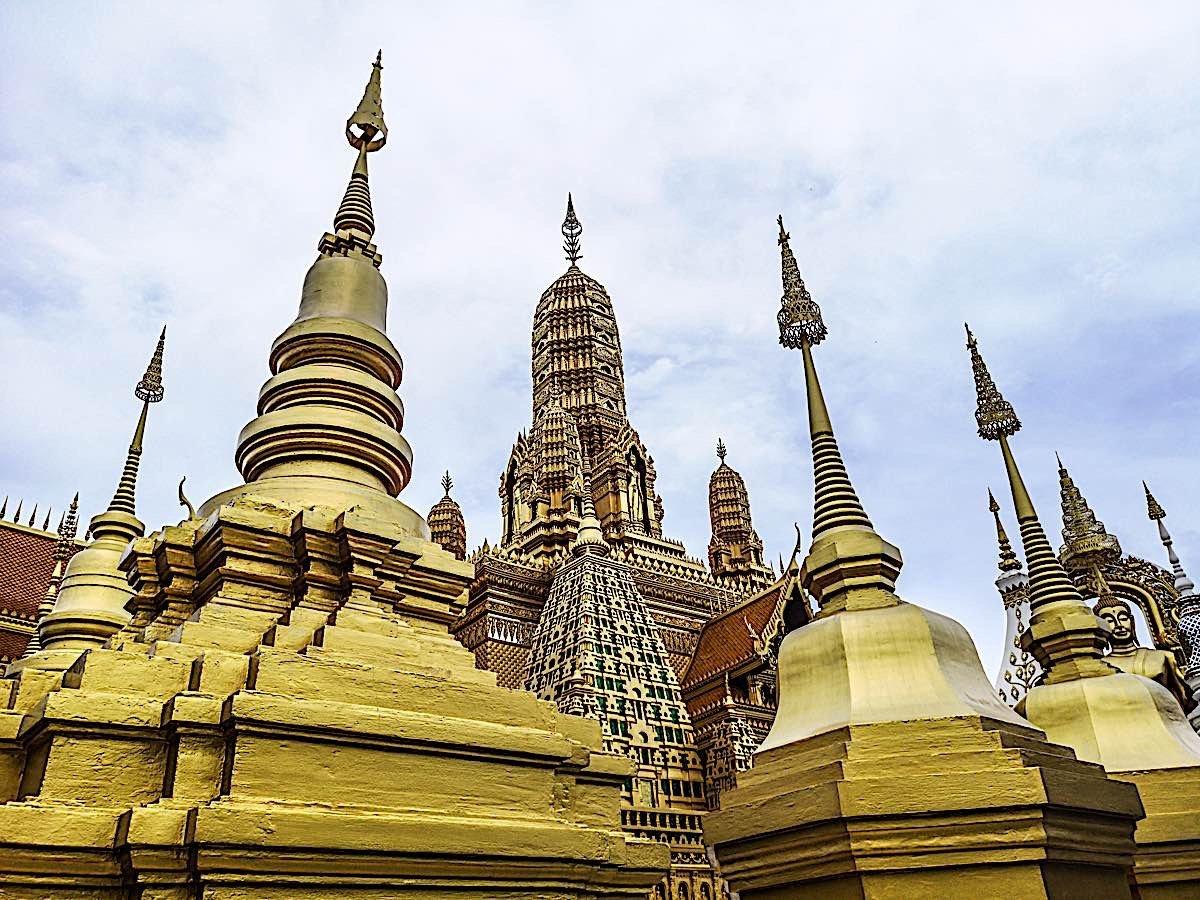 Buddha Weekly Golden stupa temple thailand 122252517 Buddhism