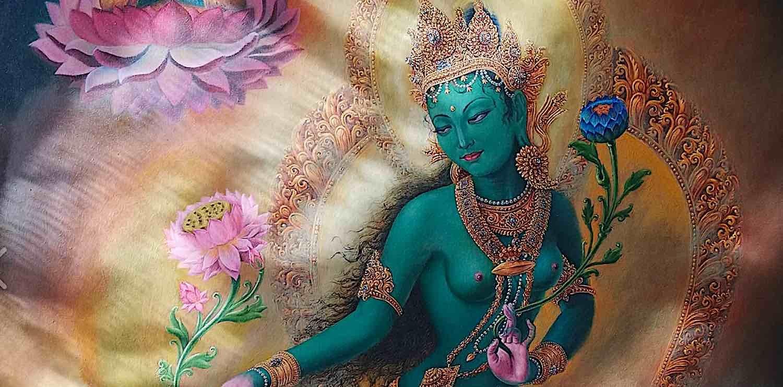 Buddha Weekly Green Tara Mural Buddhism