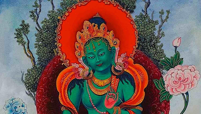 Buddha Weekly Green Tara close up Buddhism