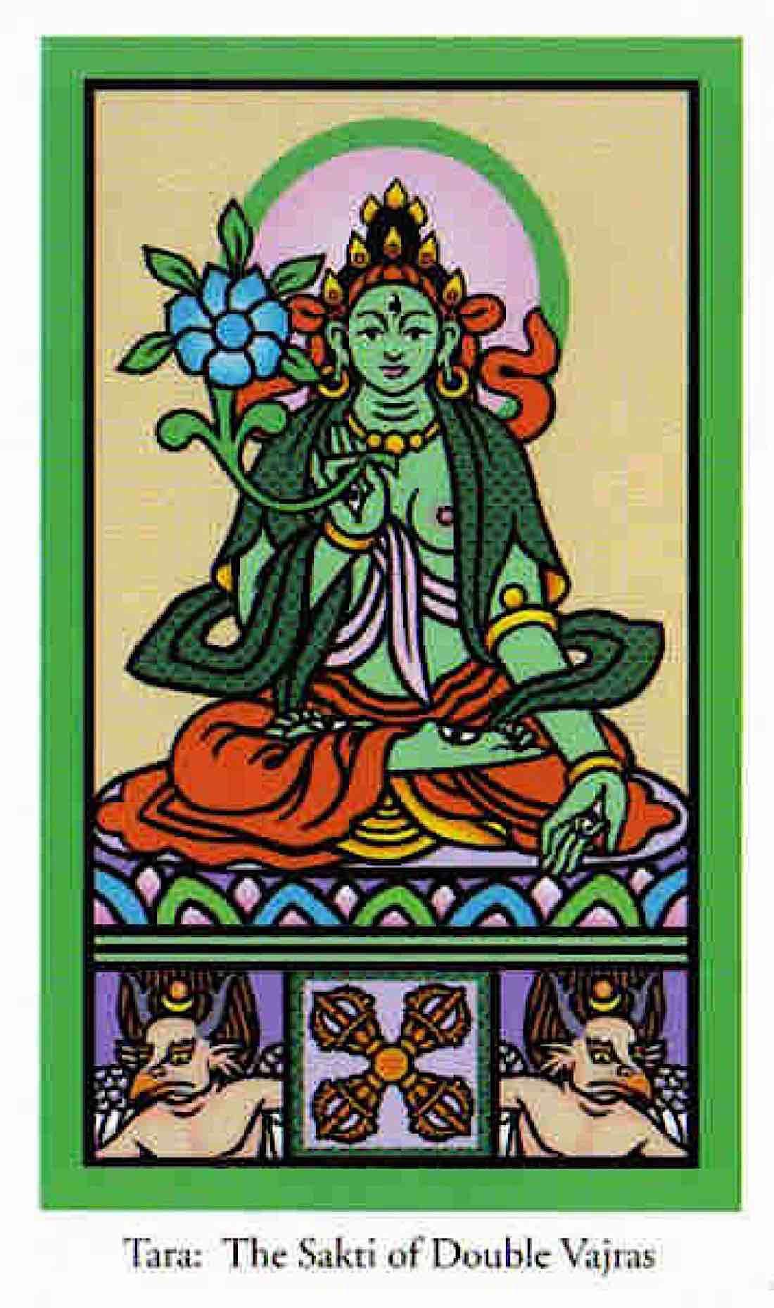 Buddha Weekly Green Tara in Buddha Tarot Buddhism