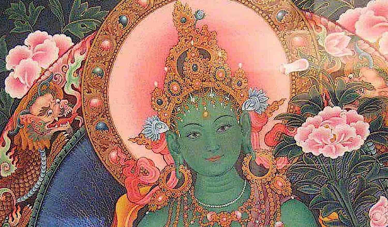 Buddha Weekly Green Taras loving face beautiful Buddhism