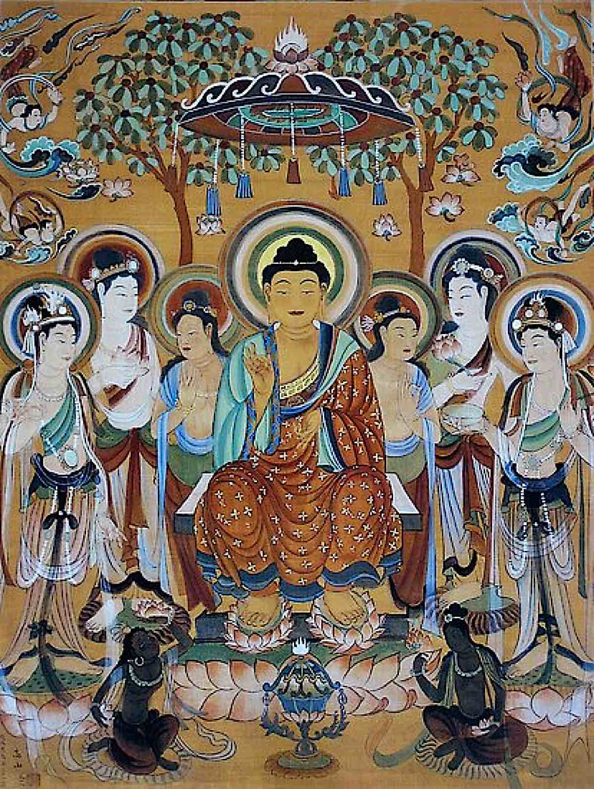 Buddha Weekly Group of Bodhisattvas and Buddha Buddhism