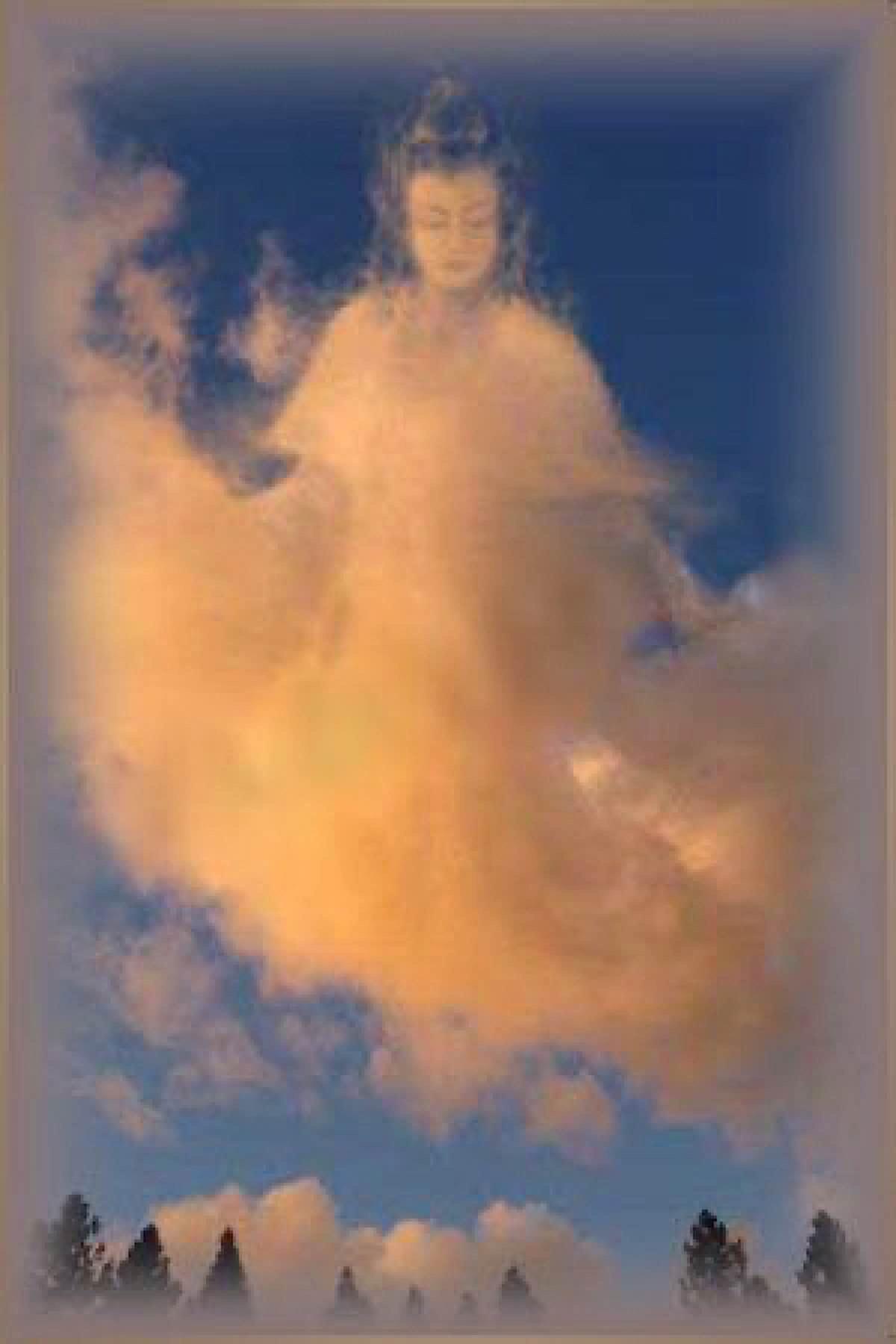 Buddha Weekly Guan yin in the clouds Buddhism