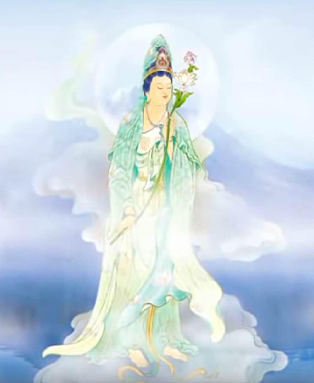 Buddha Weekly Guanyin in the clouds Buddhism