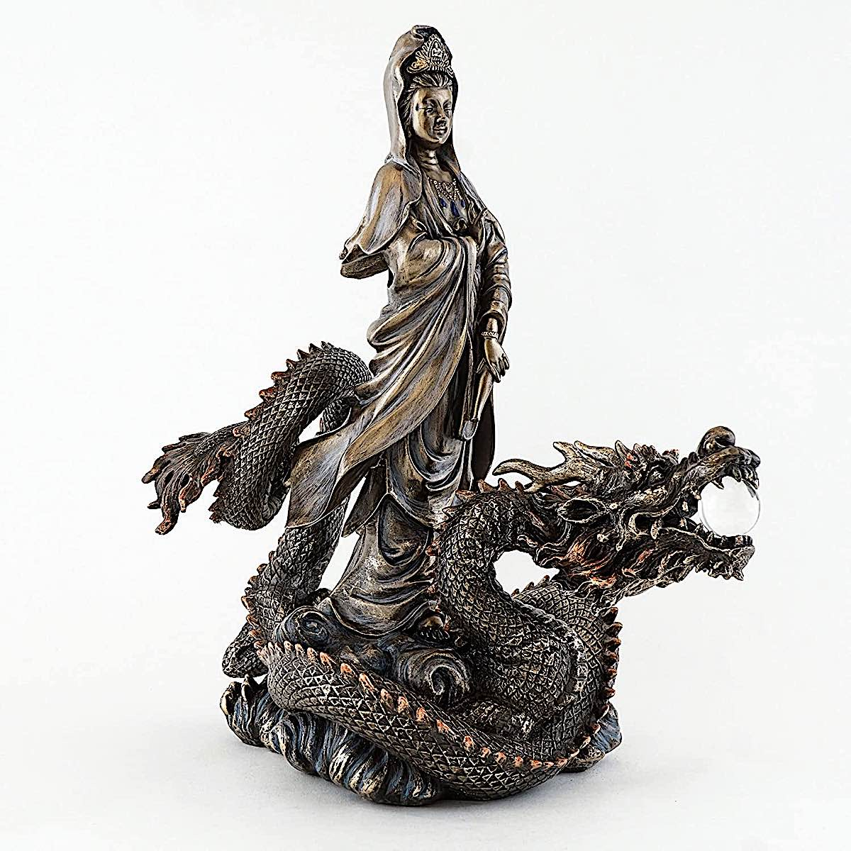 Buddha Weekly Guanyin on the Dragon statue Buddhism