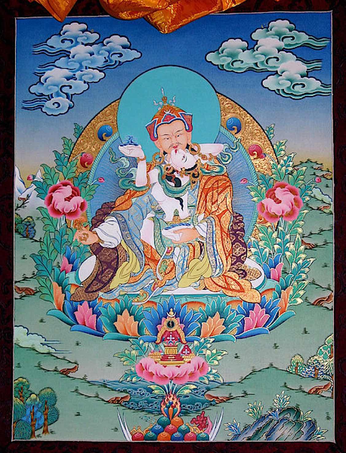 Buddha Weekly Guru Rinpoche and Yeshe Tsogyal Buddhism
