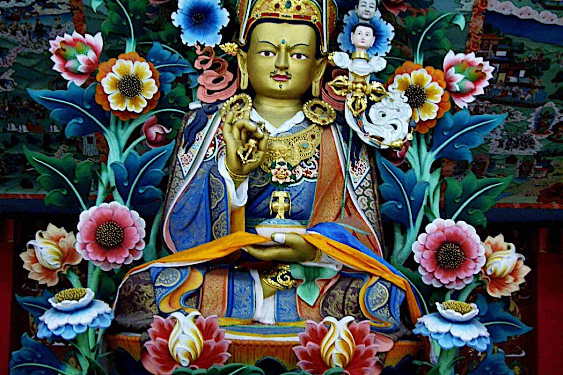 Buddha Weekly Guru Rinpoche and flowers Buddhism