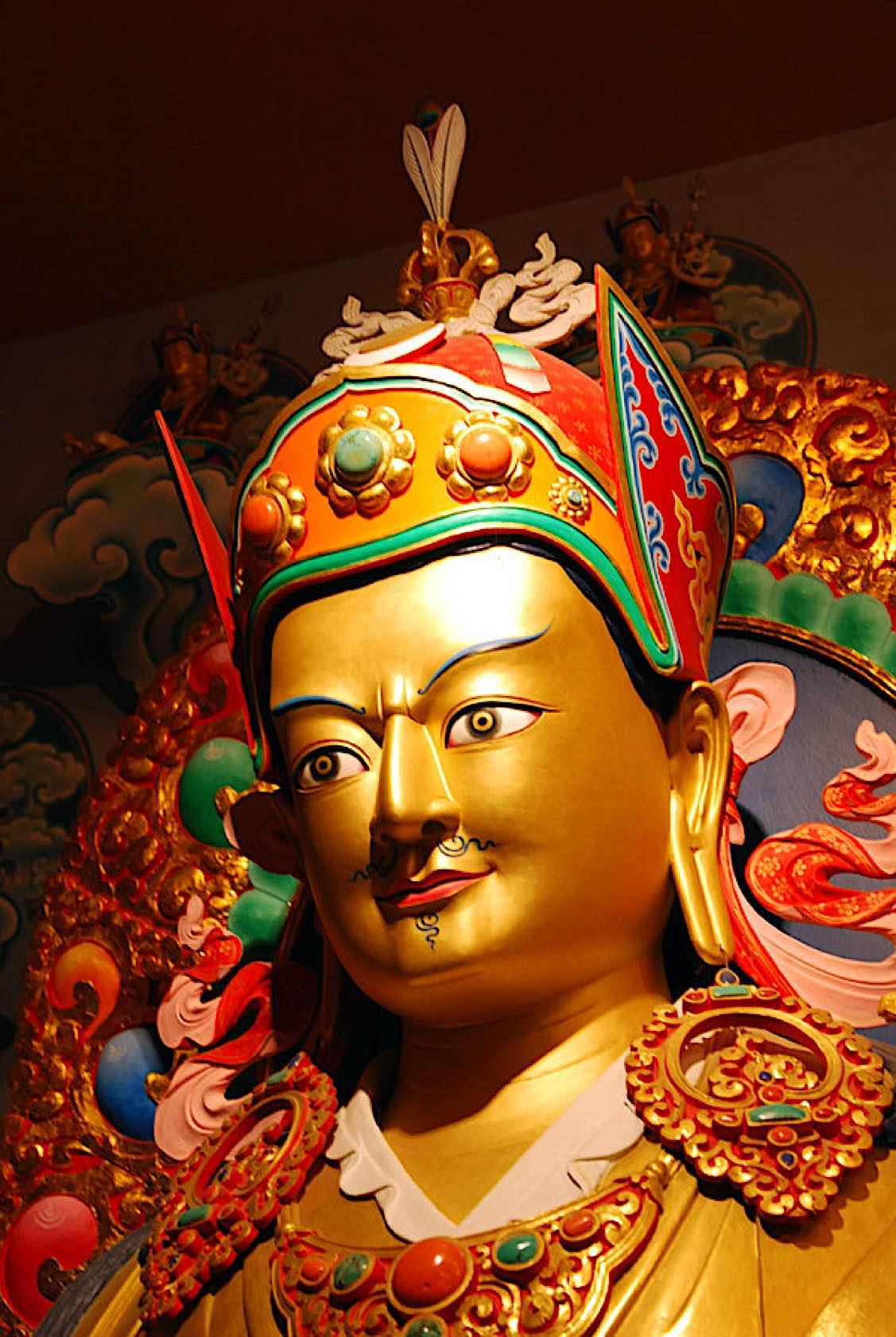 Buddha Weekly Guru Rinpoche close up Buddhism