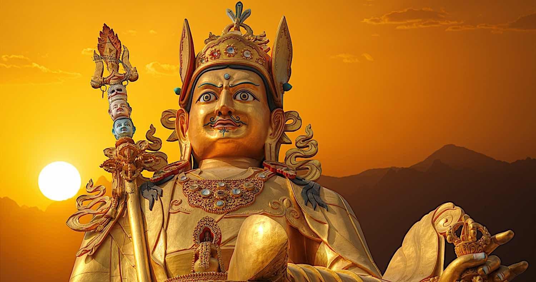 Buddha Weekly Guru Rinpoche in Nepal sunset photo Lindrik dreamstime xxl 123164093 Buddhism