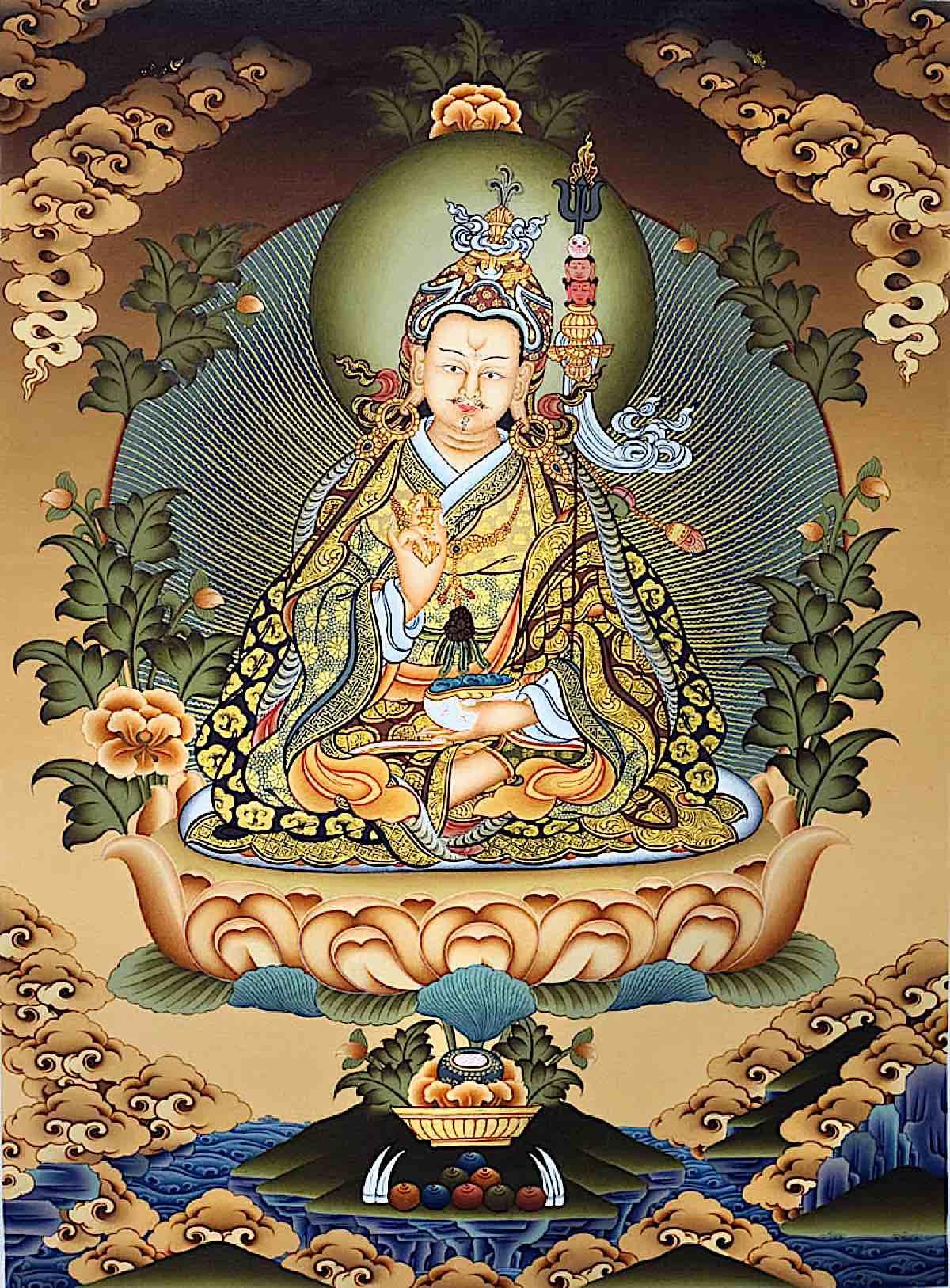 Buddha Weekly Guru Rinpoche painting Buddhism