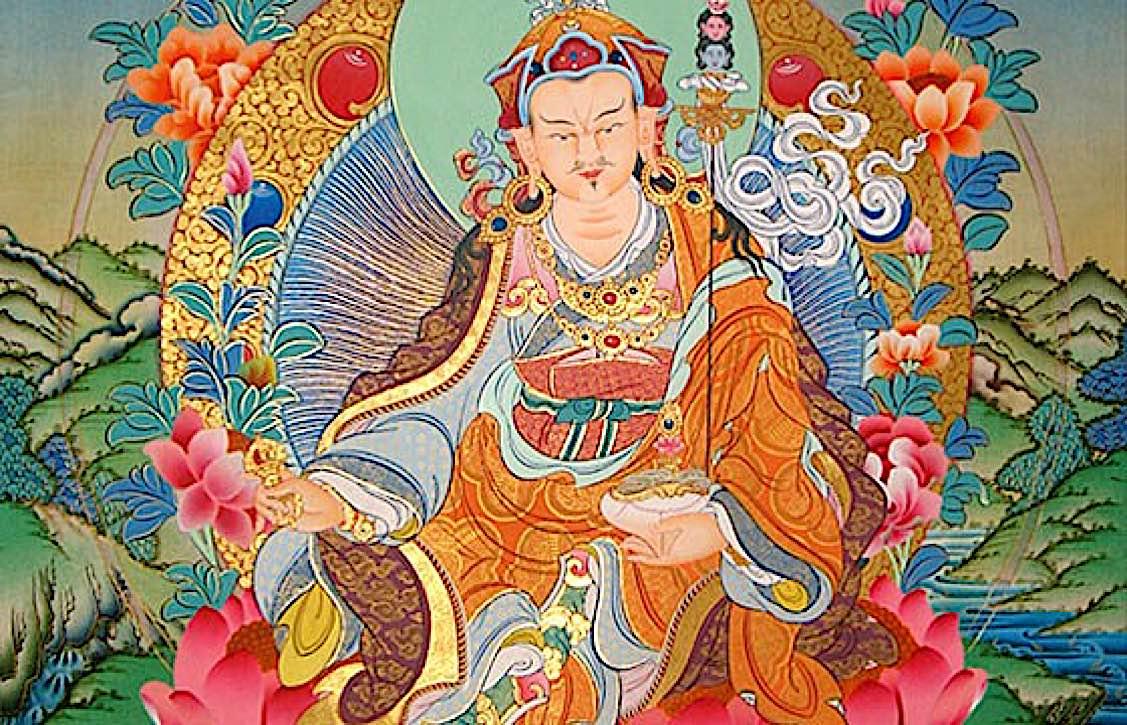 Buddha Weekly Guru Rinpoche tangkha Buddhism