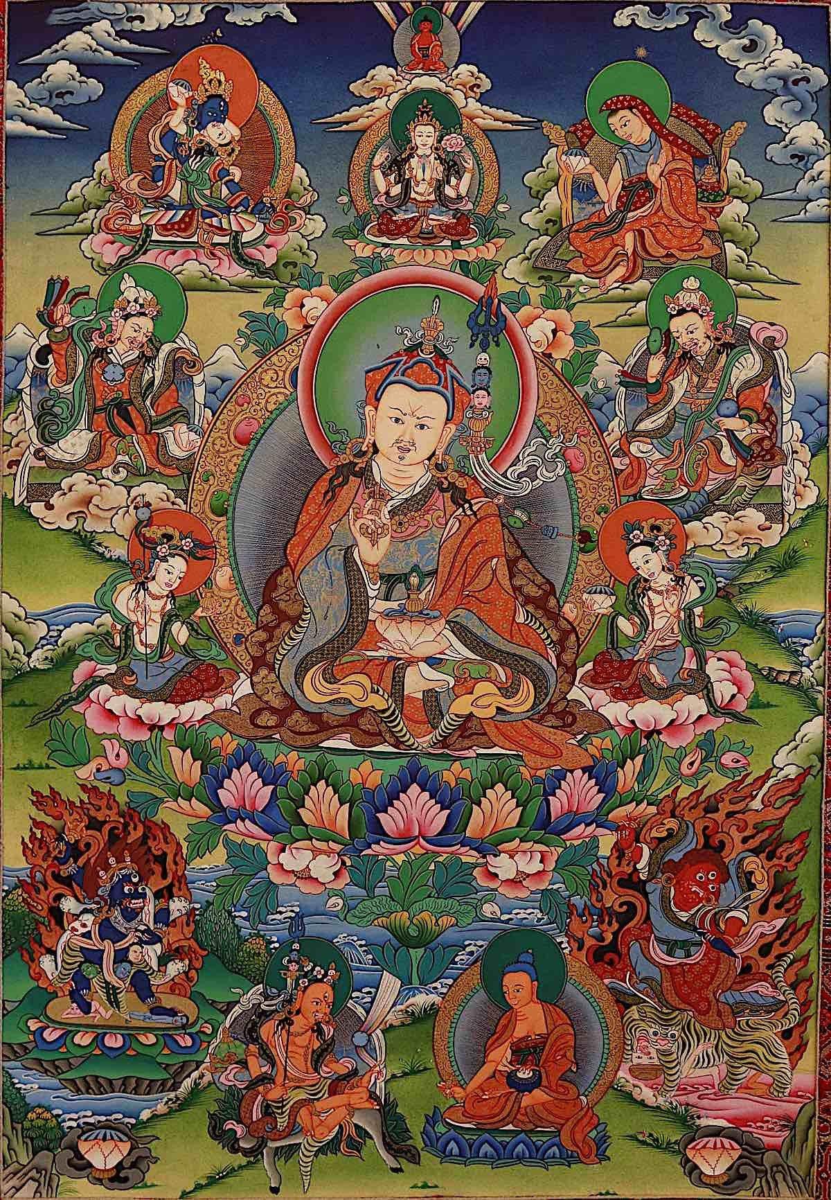 Buddha Weekly Guru Rinpoche thangka Buddhism