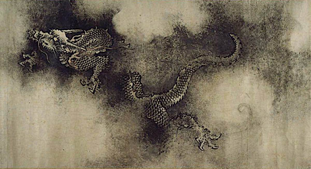 Buddha Weekly HNine Dragons Handscroll painted by Chen Rong in 1244 from Museum of FIne Art Boston dragon Buddhism