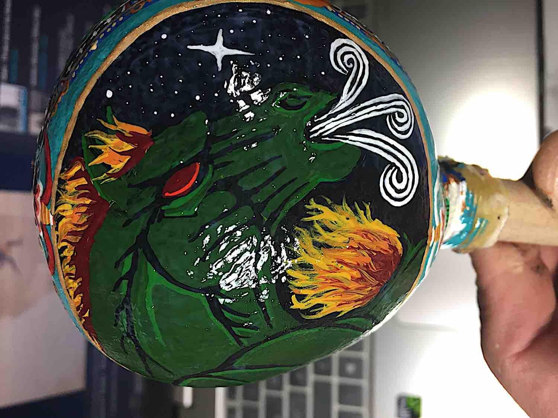 Buddha Weekly Hayagriva Green Wind Horse ferocious rattle Sean Wah Buddhism