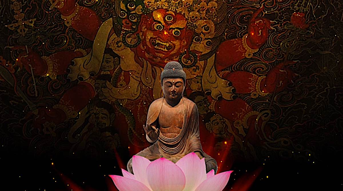 Buddha Weekly Hayagriva arose from the heart of Amitabha Buddha as wrathful compassion of Amida Buddhism