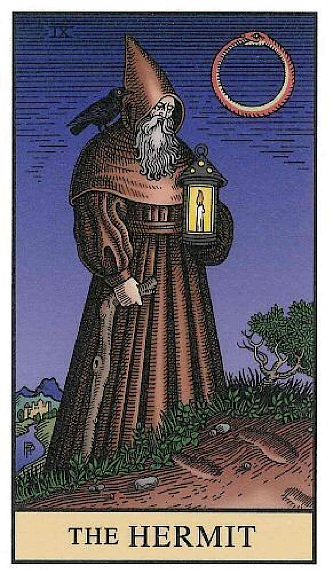 Buddha Weekly Hermit Card Alchemical Tarot Buddhism