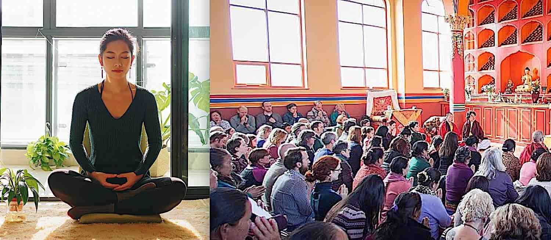 Buddha Weekly Home retreat versus group Buddhist retreat Buddhism