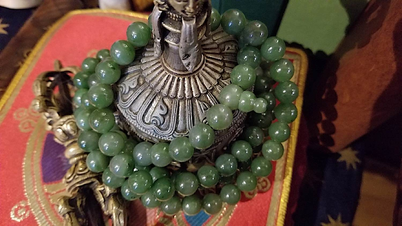 Buddha Weekly Jade Mala sacred to Green Tara Buddhism