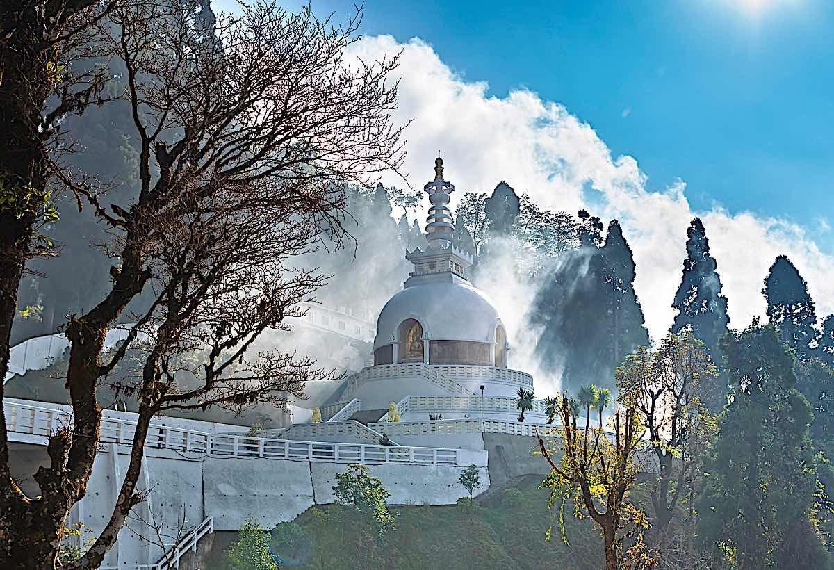 Buddha Weekly Japanese shanti stupa aka Peace pagoda in Darjeeling 110073559 Buddhism