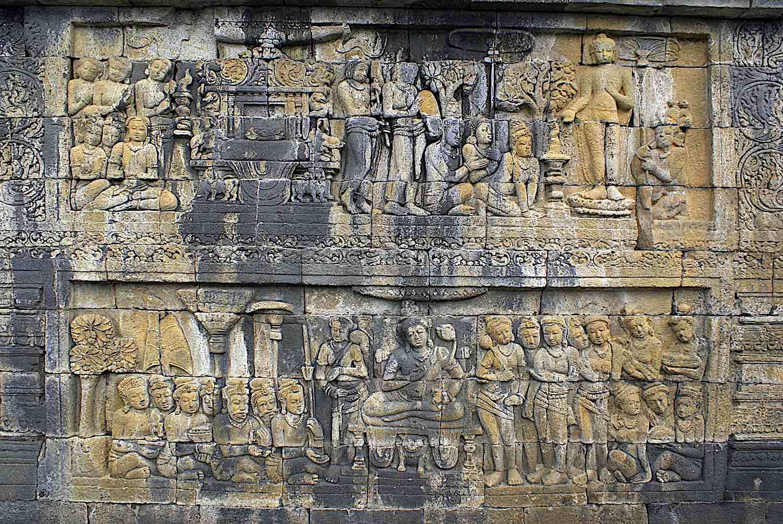 Buddha Weekly Jataka relief wall of Borobudur Java dreamstime xxl 6408696 Buddhism