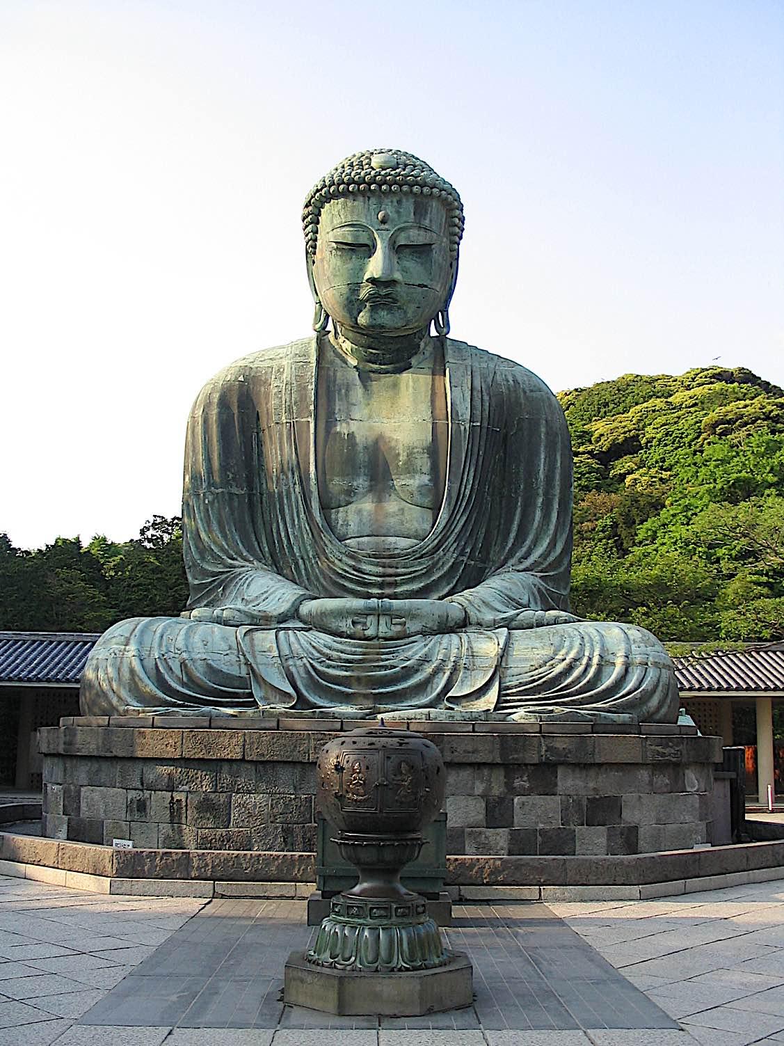 Buddha Weekly Kamakura Budda Daibutsu front 1885 Buddhism
