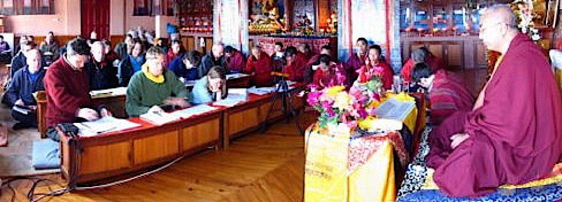 Buddha Weekly Khenchen Namdrol Rinpoche teaching at Rigpa Shendra East in Nepal Buddhism