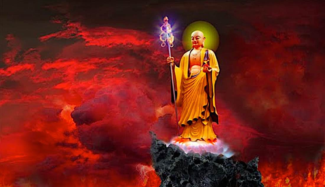 Buddha Weekly Kshitigarbha saves beings in the hell realms Buddhism