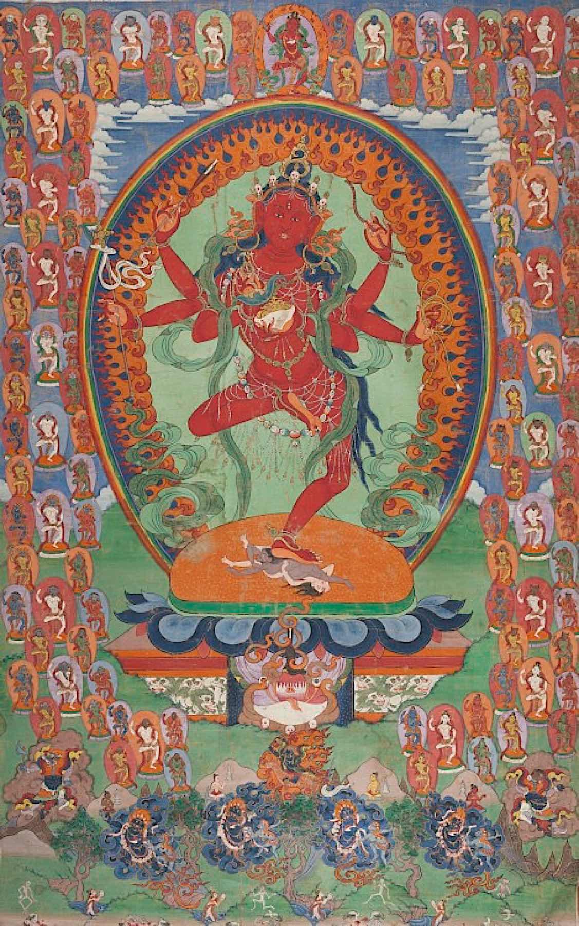 Buddha Weekly Kurukulla Tibet 19th century thangka Buddhism