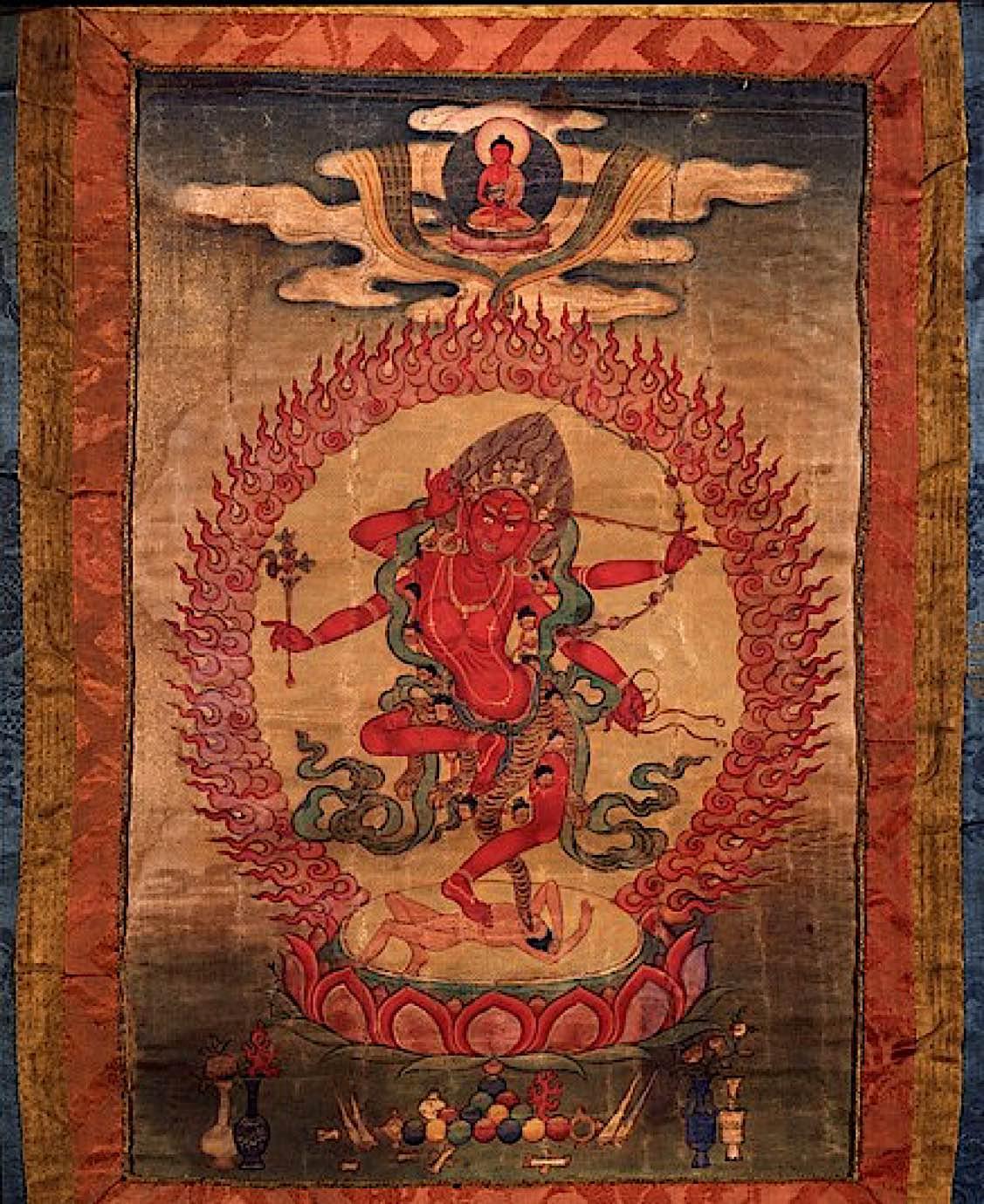 Buddha Weekly Kurukulla old thangka Buddhism