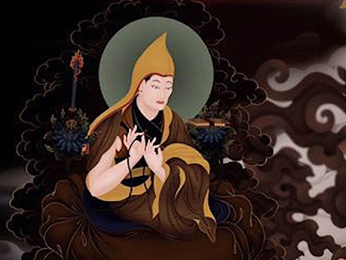 Buddha Weekly Lama Tsongkhapa by Ben Christian detail from painting of Yamantaka Buddhism