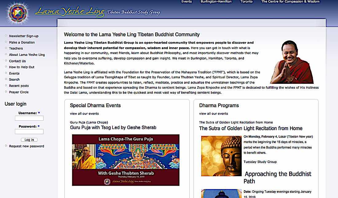 Buddha Weekly Lama Yeshe Ling website Buddhism