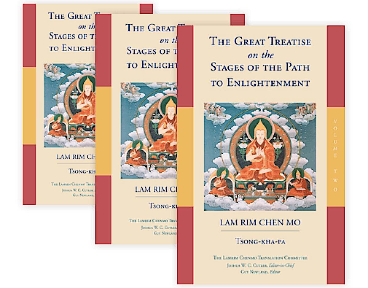 Buddha Weekly Lamrim Chenmo Lama Tsongkhapa in three volumes Buddhism