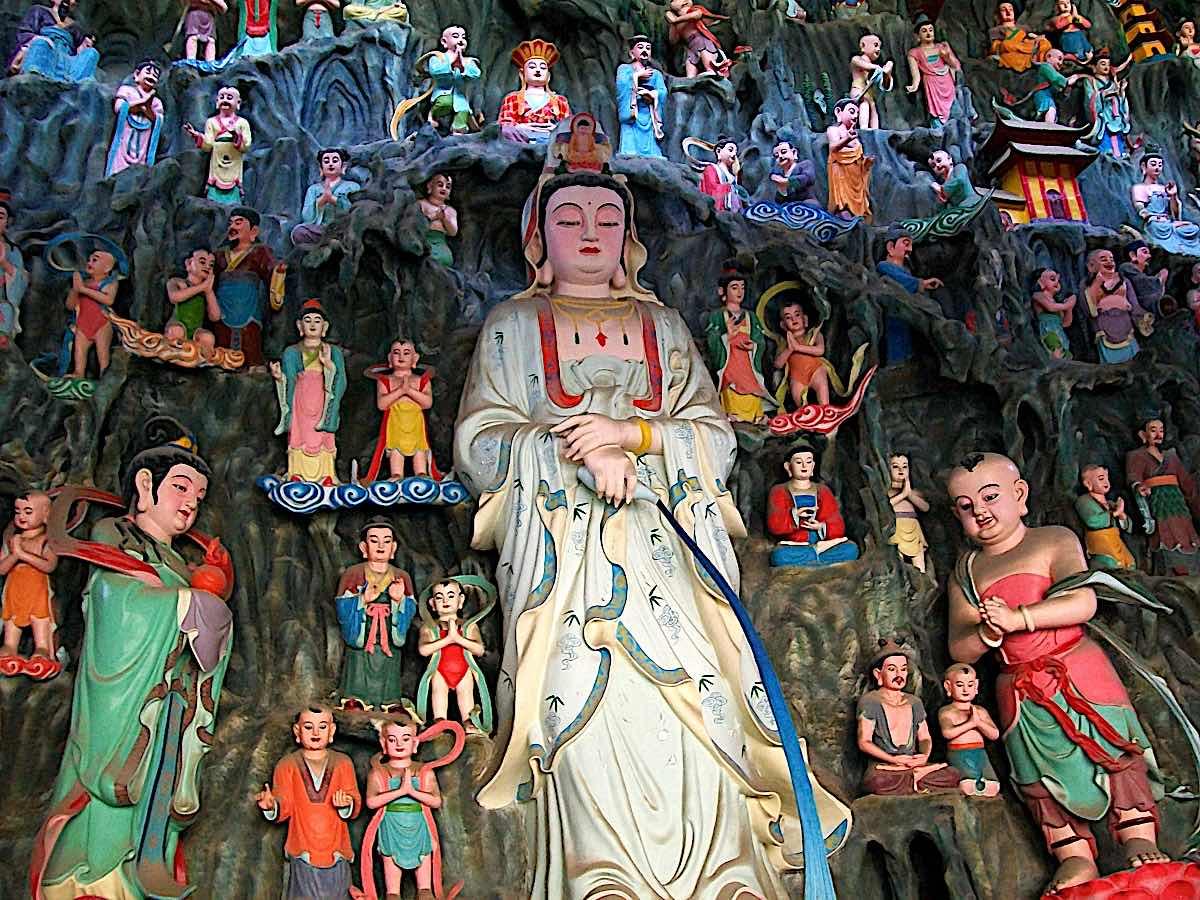 Buddha Weekly Longnu Dragon Girl and Sughana Dharma Flower Temple Avalokitasvara Bodhisattva Buddhism