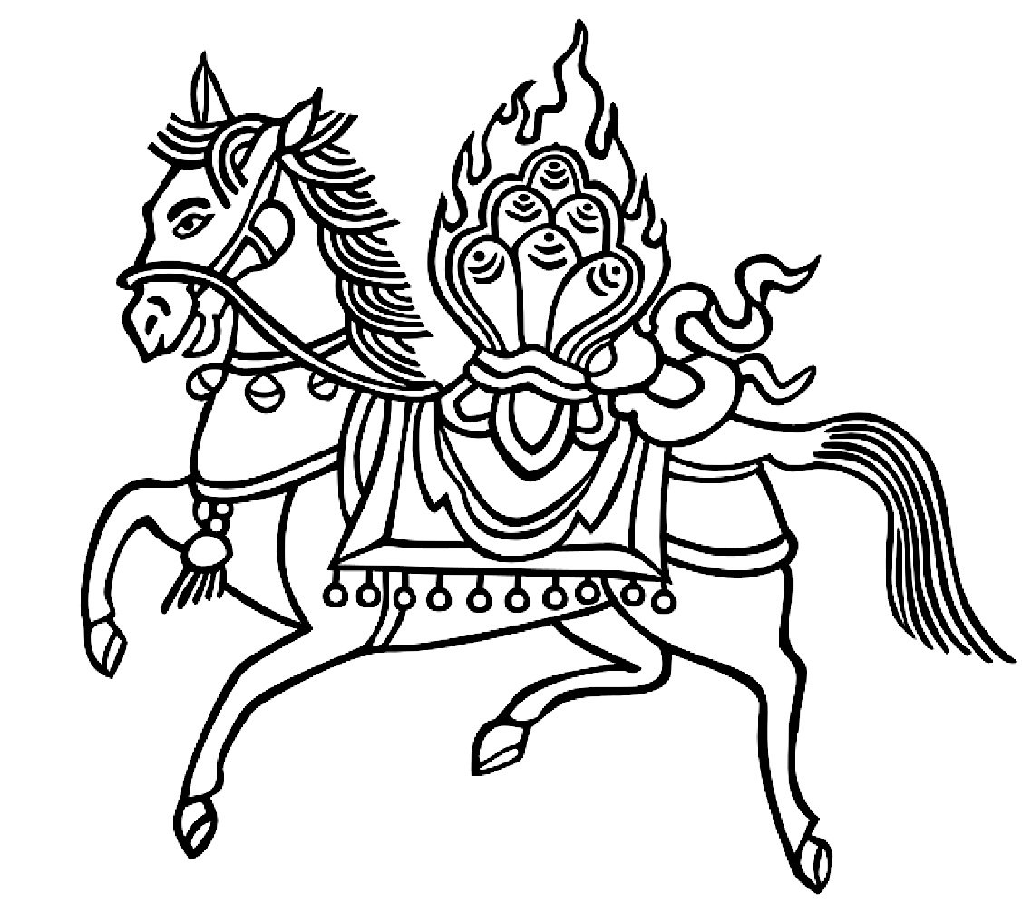 Buddha Weekly Lungta symbol wind horse Buddhism