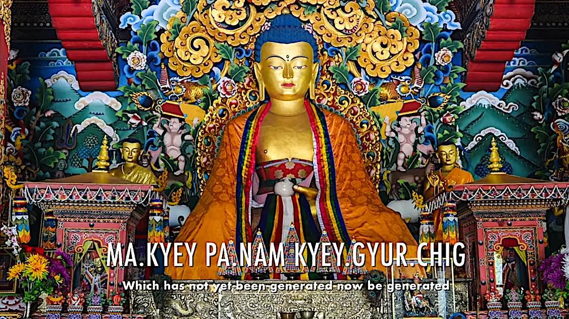 Buddha Weekly Ma Kyey pa nam kyey gyur chig Dedication of Merit Buddhism