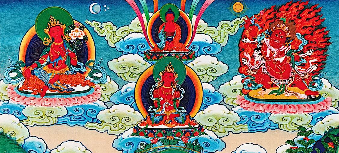 Buddha Weekly Magnetizing Deities Wangdu Amitabha Vajradharma Hayagriva Chenrezig Buddhism