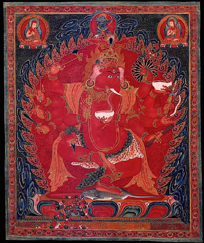 Buddha Weekly Maha Rakta Ganapati 12 armed Buddhism